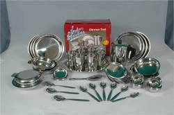 Sail Salem Stainless Steel Silver 51 Piece Dinner Set, for And Hotel/Restaurant