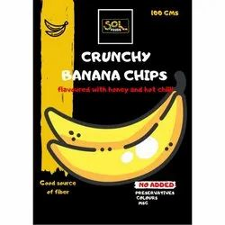 Sol Foods Honey & Hot Chilli Yellow Banana Chips, Packaging Type: Packet