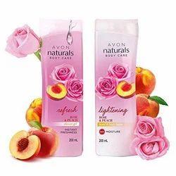 Avon Naturals Rose & Peach Whitening Body Lotion Shower Gel (200ml each)
