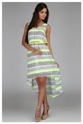 Womens Printed Cotton Dress, Age Group: 20-40