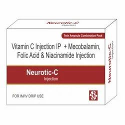 Vitamin C, Mecobalamin, Folic Acid & Niacinamide Injection
