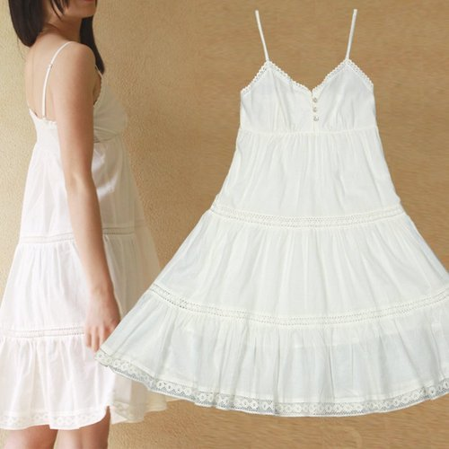 5e8e139b7c34 Short Length White Cotton Night Dress, Rs 130 /piece, SKR Balaji ...