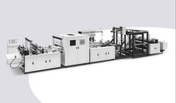 KTL-D700 Automatic Non Woven Fabric Box Bag Making Machine With Online Loop Handle