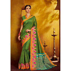 Dark Green Silk Saree