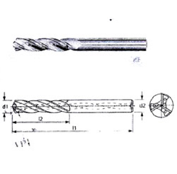 Solid Carbide 2-Fluted Ball Nose End Mill