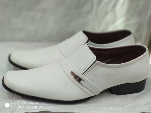 eeb6796f69d5 Tuff Boy Men Leather White Shoes, Size: 8 To 11, Rs 1300 /pair | ID ...