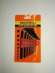 Chrome Vanadium Steel Crv Allen Key Set, For Mechanical, Size: 1.5 Mm - 10 Mm