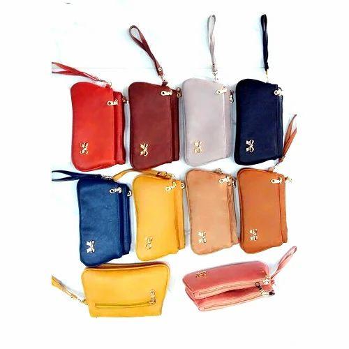 b7a2e894560 Plain Rexine Fancy Hand Pouch, Rs 115 /bag, Makewell Bags | ID ...