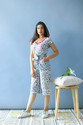 Side Pockets Day Wear Urban Party Wear Cotton Hand Printed Tasseled Waist Wrap Jumpsuit