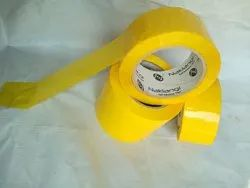 Multicolor Single Sided Yellow Colour Self Adhesive BOPP Tape, Packaging Type: Box