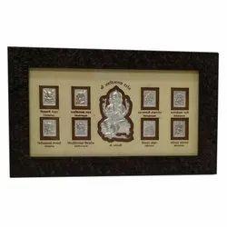 Kalash Silver Shri Ashtavinayak Religious Frame