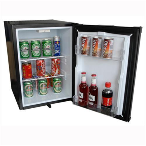Black Hotel Mini Bar Fridge 40 Litre Capacity Electric
