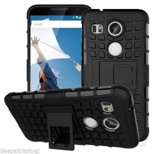 separation shoes 260e1 ce6bd New Kick Stand Hybrid Armor Back Cover Case For Lg Nexus 5x