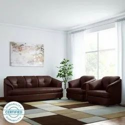 Brown Black Adinath Office Sofa Gayana, Size: 7 Ft, For Office Use
