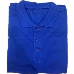Cotton Mens Plain Collar T-Shirt