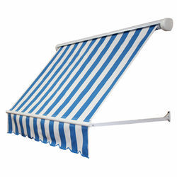 Striped Fixed Window Awnings