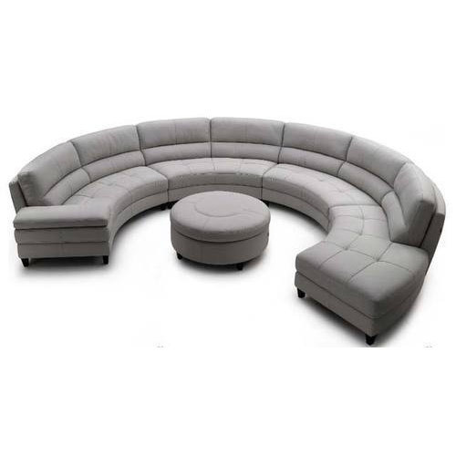 round sofa set 4pc modern top grain leather round With round sectional sofa set manufacturers