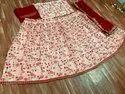 New Stylish Red Organza Silk Lehenga Choli
