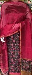 Impressive Artisan Party Wear Chanderi silk Suit, Handwash