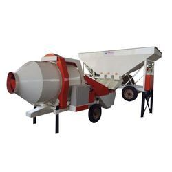 Reversible Concrete Mixer with Three Bin