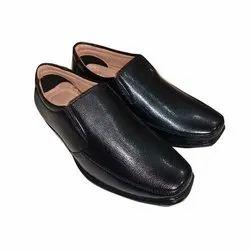 Black Designer Leather Formal Shoe, Size: 5-10
