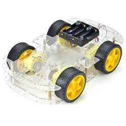 eBhoot Acrylic 4 Motor Robot Car Kit For Arduino Based Robotics Projects, For Assembly, Manual
