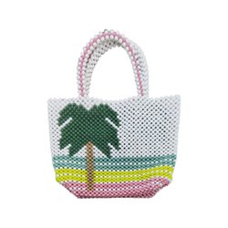 Tropical Design Beaded Customized Writing Design Promotional Luxury Bags