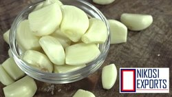 B Grade Fresh White & Washed, Peeled Garlic, Ready to Cook, Garlic Size: 45 - 55mm