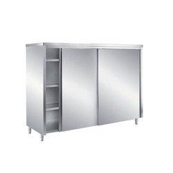 SS Sliding Door Vertical Cabinet