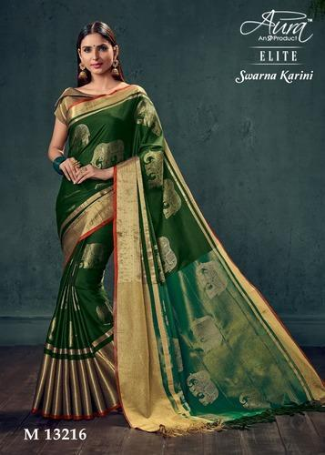 2ddcfdecd03886 Peacock Design Cotton Silk Saree With Blouse, Rs 1480 /piece | ID ...