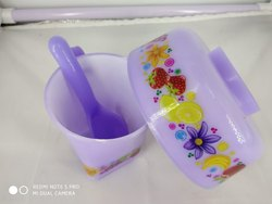 Plastic Polished Rema - Chocos Gift Set 1 Bowl 1 Cup 1 Spoon for Home