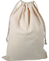 Plain Cotton Laundry Sack Stuff Bag