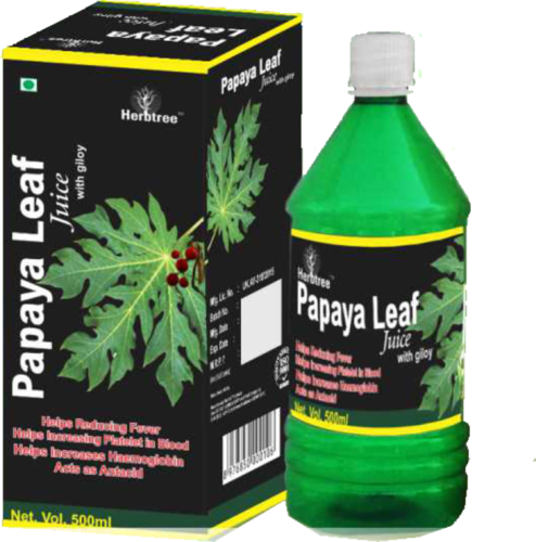 Papaya Leaf Juice With Giloy At Rs 450 Milliliter À¤¹à¤° À¤¬à¤² À¤œ À¤¸ À¤¹à¤° À¤¬à¤² À¤ª À¤‰à¤¡à¤° Herb Tree Life Sciences Private Limited Haridwar Id 14895147455