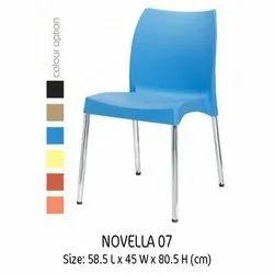 Nilkamal Novella Series 07 Chair, Size: 58.7 X 45 X 80.5 Cm