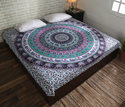 Gypsy Mandala Printed Cotton Bed Sheet Tapestry
