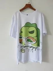 Dry Fit Polyester Round Neck T Shirt/Customized Polyester Design Print T Shirt