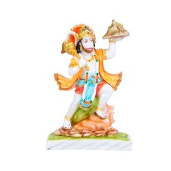 Marble Parvat Hanuman Statue