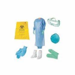 Non Woven Spun Bonded Free Size Coronavirus PPE Kit