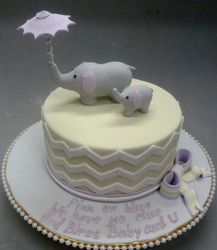 Baby Shower Cakes Baby Shower Cake 3D1272 Animal Crop