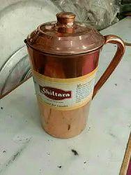 Plain Cylindrical Copper Kitchen Utensils, Size: 4