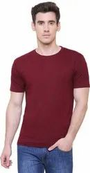 Round Neck Plain Men Plain T Shirts