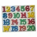 Educational Toy Wood Counting Inset Puzzle