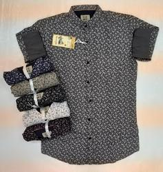 Linen Cowl Neck Mens Designer Shirts
