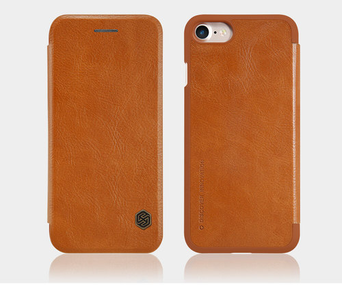new concept 5d5db 68e5f Nillkin Qin Series Leather Case For Apple Iphone 7 Brown