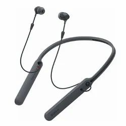 Closed Dynamic Sony WI-C400 Black Earphone