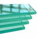 Transparent 10-50 Square Feet Tempered Toughened Glass, Shape: Flat