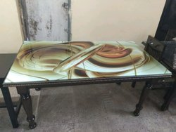 Dinning Table With 3d Glass