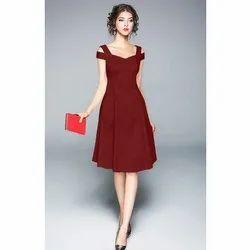 Red Plain Girls Branded Western Cloth