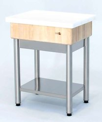 Marble Butcher Blocks SS Table