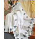 Ladies Fancy Linen Embroidery Saree